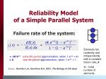 reliability model of a simple parallel system