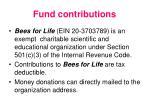 fund contributions