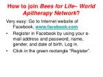 how to join bees for life world apitherapy network