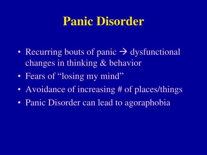 Panic disorder2