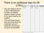 there is an additional step for 06 ctr s