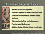 effects on target audience