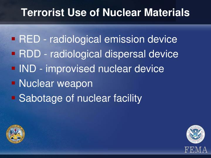 Terrorist Use of Nuclear Materials