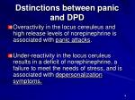 dstinctions between panic and dpd