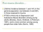 post trauma disorders