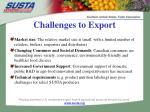 challenges to export
