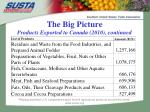 the big picture products exported to canada 2010 continued
