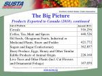 the big picture products exported to canada 2010 continued1