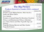 the big picture products exported to canada 2010 continued2