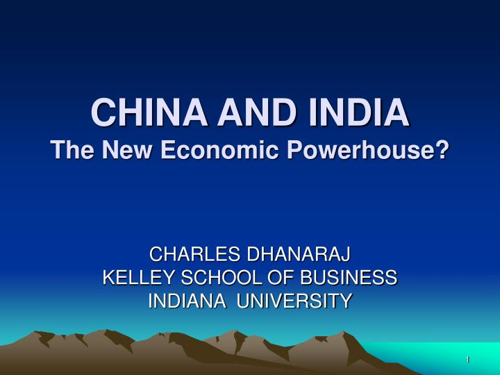 china and india the new economic powerhouse n.