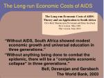 the long run economic costs of aids