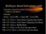 bollinger band indicators b