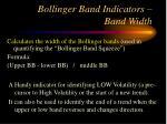 bollinger band indicators band width
