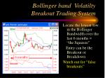 bollinger band volatilty breakout trading system