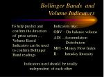 bollinger bands and volume indicators