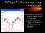 bollinger bands squeeze using band width