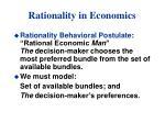 rationality in economics