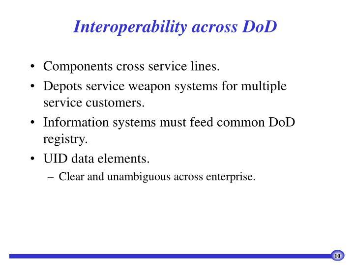 Interoperability across DoD