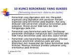 10 kunci birokrasi yang sukses reinventing government osborne dan gaebler1