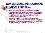 konsekuensi penggunaan 5 lima strategi1