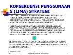 konsekuensi penggunaan 5 lima strategi2