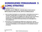 konsekuensi penggunaan 5 lima strategi4