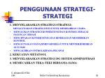 penggunaan strategi strategi