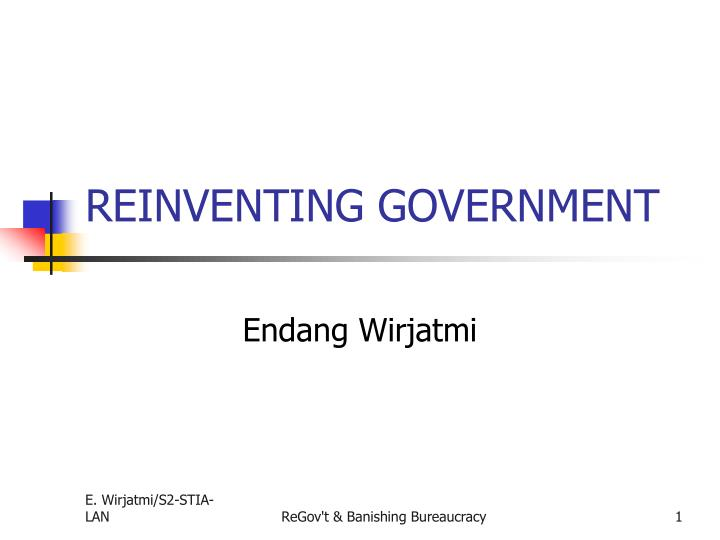 reinventing government n.
