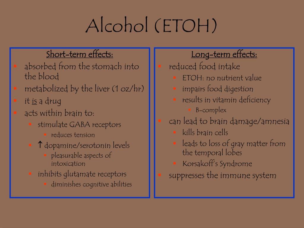 Short-term effects: