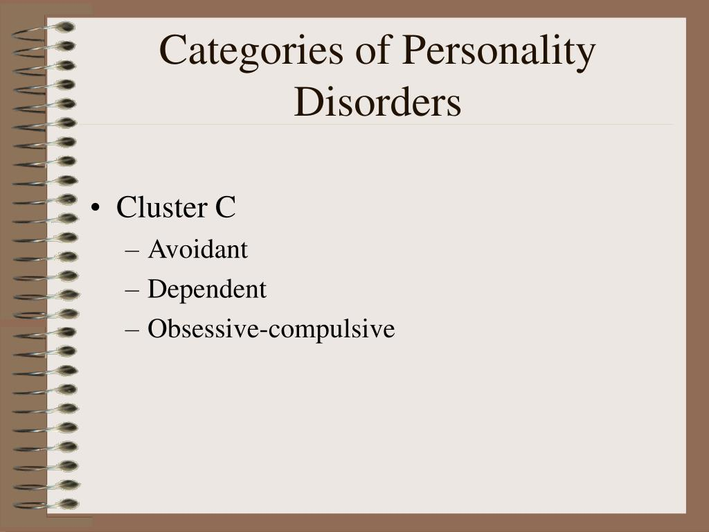 Categories of Personality Disorders