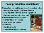 food production consistency