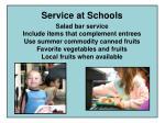 service at schools