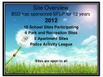 site overview bsd has sponsored sfsp for 12 years