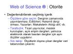 web of science otorite