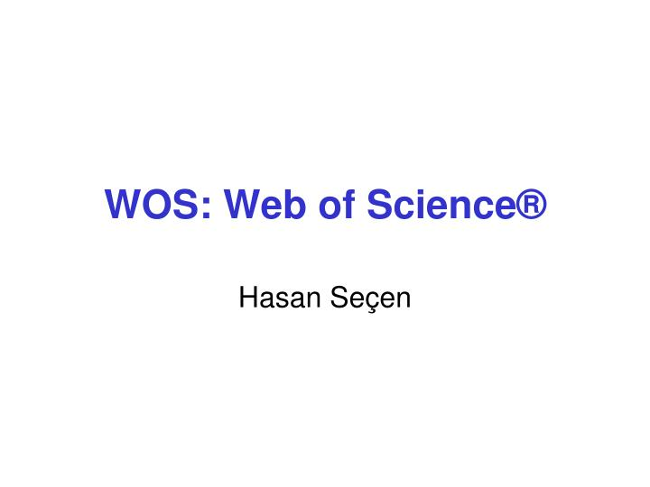 wos web of science n.