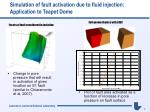 simulation of fault activation due to fluid injection application to teapot dome