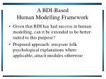 a bdi based human modelling framework