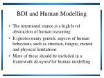 bdi and human modelling1