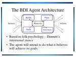 the bdi agent architecture