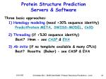 protein structure prediction servers software