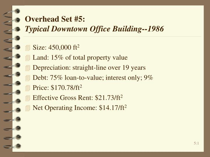 overhead set 5 typical downtown office building 1986 n.