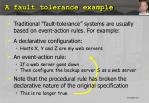 a fault tolerance example