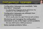 configuration languages
