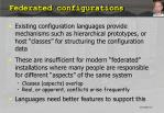 federated configurations