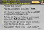 some context on configuration management