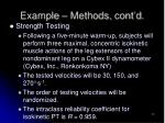 example methods cont d1