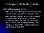 example methods cont d7