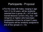 participants proposal