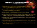 proyectos de posicionamiento de la ec iniciativas en curso