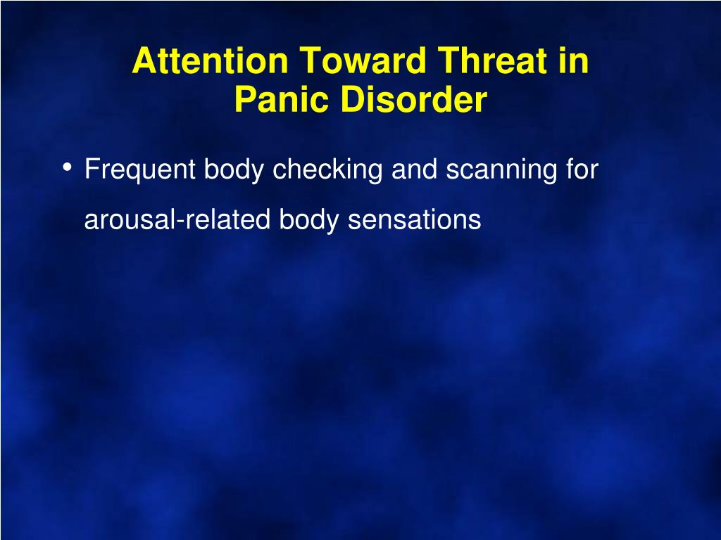 Attention Toward Threat in